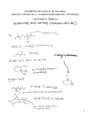 CHEM 281 2011-3 Lecture Notes 37 - WEEK 13