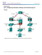 9.4.1.1 Lab - Configuring ASA Basic Settings and Firewall Using CLI.docx