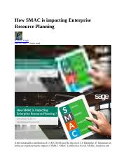 How SMAC is impacting Enterprise Resource Planning.docx