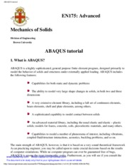 ABAQUS for Geotechnical Engineers - ABAQUS for Geotechnical