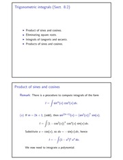 Trigonometric integrals