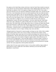 statement of opinion syria essay 22514