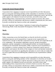 Corporate Social Responsibility Research Paper Starter - eNotes
