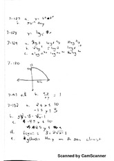 Solving Logarithms and Functions Hwk answers
