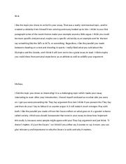 Essay 4 peer commentary