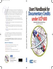Users handbook for documentary credits under UCP 600