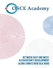 Kazakhstan's development along China's new Silk Road.pdf
