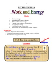 Ch 06 Work and Energy