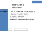motiv and leadership