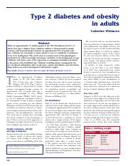 Metabolism - Obesity and Diabetes 2 in Adults Unit 5.pdf