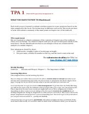 TPA 1 Brief