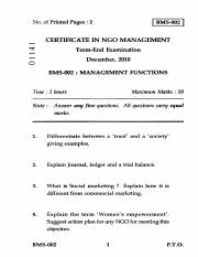 (www.entrance-exam.net)-IGNOU Certificate in NGO Management - Management Functions Sample Paper 2.pd
