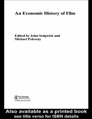 An Economic History of Film - Sedgwick, John & Pokorny, Michael