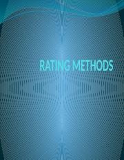 RATING METHODS