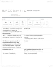 BUA 220 Exam #1 flashcards | Quizlet