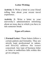 Twoogang Docx What Is An Informal Letter An Informal Letter Also Referred To As A Friendly Letter Is A Personal Letter Written To Friends Or Relatives Course Hero