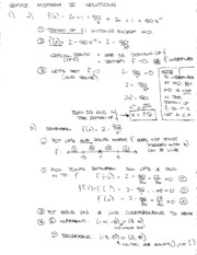 Sample Midterm III Solutions