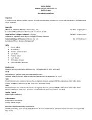 Completed Resume - Job Search
