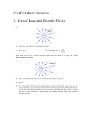 "Soln3 â€"" Gauss_s Law and Electric Fields"