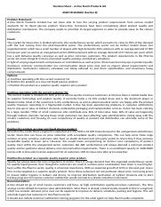 Decision Sheet - A-One Starch Products Ltd (Ankit Bhageria Section B).docx