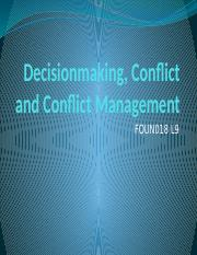 FOUN 018 L9 Conflict and Conflict Management.pptx