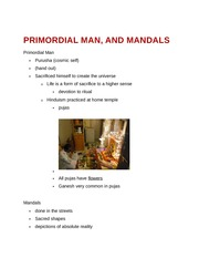 Primordial Man and Mandals