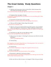 The great gatsby study questions answers chapter 1 cover letter of sales and marketing position