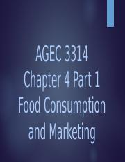 Chapter 4 AGEC 3314
