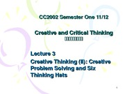 Lecture 3 Creative Thinking (2)
