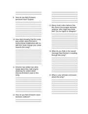 love the way you lie worksheet assignment