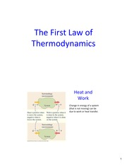 Lecture25 Ch19 FirstLawThermo