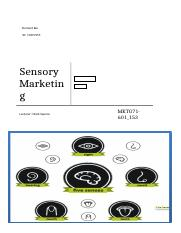 Sensory Marketing part 1.5 .docx