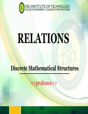 Module 9 Introduction to Relations