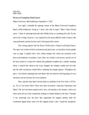 Band critique essay