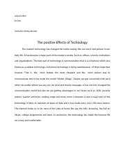 AELW 930 Positve effect about technology .docx
