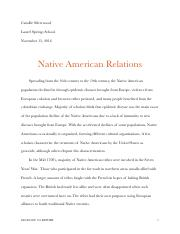 Native American Relations essay