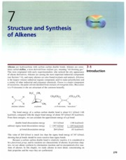 Ch 6 - Structure and Syntehesis of Alkenes