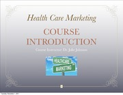 HCM Fall 2011 Course Intro