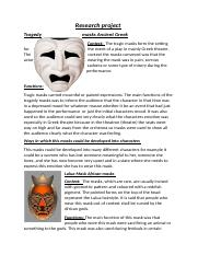 Drama masksResearch project.docx
