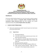 Iklan Pidn 2020 Pdf Tawaran Penajaan Jabatan Perkhidmatan Awam
