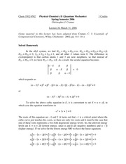 Lecture 26 on Quantum Mechanics