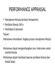 Performance appraisal & Development   (2).pptx