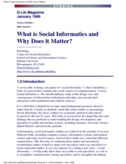 Kling-What is Social Informatics