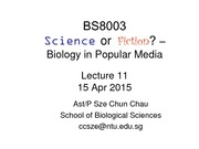 BS8003 Lecture 11
