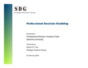 HO18-Professional Decision Modeling
