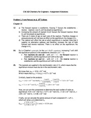 Chemistry for Engineers - Assignment 8 Solutions