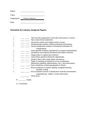 Composition II Checklist for Literary Analysis.docx