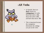 Cap1-The present tense- Regular -ar verbs