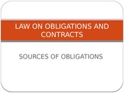 Lecture - Law 21 - 03 - Sources of Obligations