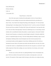 Concepts of the Self Moral Self Essay